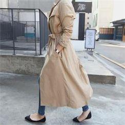 stylebyyam - Long Trench Coat with Sash