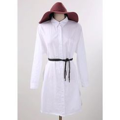 Chlo.D.Manon - Tab-Sleeve Cotton Shirtdress