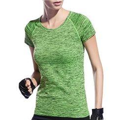 YUBE - Short-Sleeve Melange Sport T-Shirt
