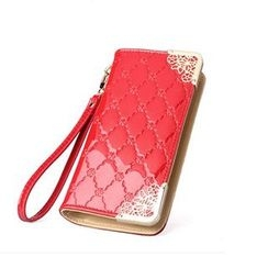 SUOAI - Quilted Long Wallet
