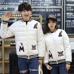 CASSY - Couple Matching Applique Padded Jacket