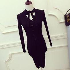 RUI - Long-Sleeve Knit Sheath Dress