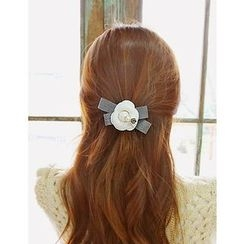 soo n soo - Embellished Flower Hair Tie