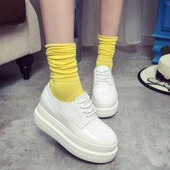 Wello - 厚底仿皮休閒鞋