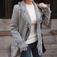Seoul Fashion - Fringed Tweed Jacket