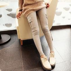 Ohayo - Maternity Fleece Linen Leggings