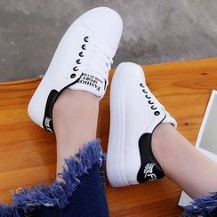 Wello - Lettering Lace Up Sneakers