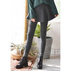 GOROKE - Inset Flare Skirt Leggings