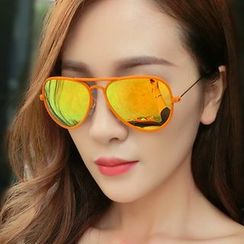 GLAMAX - Mirrored Aviator Sunglasses