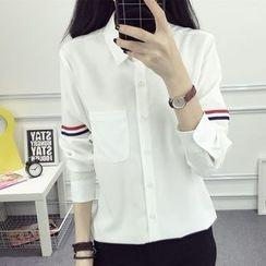 HotBlock - Striped Applique Shirt