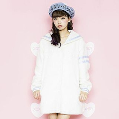 GOGO Girl - Embroidered Sailor Collar Buttoned Jacket