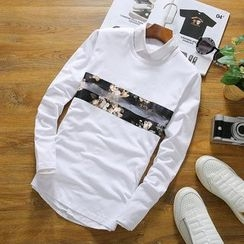 T for TOP - Long-Sleeve Floral T-Shirt