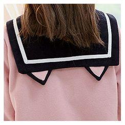 Sechuna - Sailor-Collar Embroidered Jacket