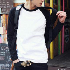 ABOKI - Raglan Long-Sleeved T-Shirt