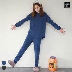 PINKSISLY - Set: Brushed Fleece Pullover + Sweatpants
