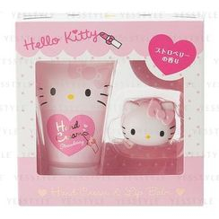 Sanrio - Hello Kitty Hand Cream & Lip Balm Set
