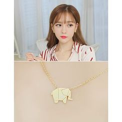 soo n soo - Elephant Pendant Necklace