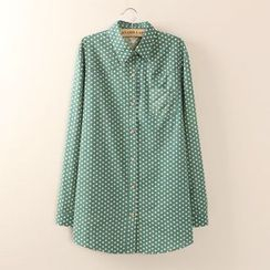 Tangi - Dotted Long-Sleeve Blouse