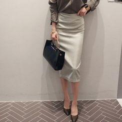 NANING9 - Glitter Midi Skirt