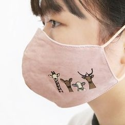 Cute Essentials - Animal Embroidered Mask