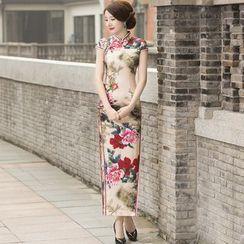 四小姐旗袍 - 花花長款旗袍