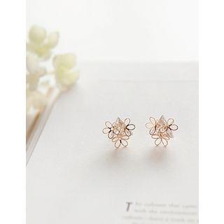 soo n soo - Flower Stud Earrings
