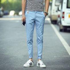 百高 - 纯色棉质裤