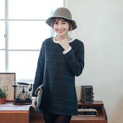 Tokyo Fashion - Frill Trim Check Tunic
