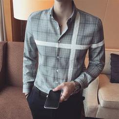 YONDER - 長袖格子襯衫