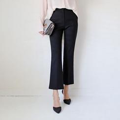 WITH IPUN - Boot-Cut Dress Pants