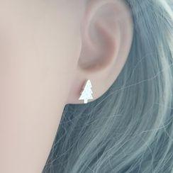 Love Generation - Christmas Tree Sterling Silver Earrings