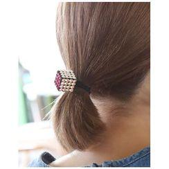 Miss21 Korea - 施華洛世奇水晶立方體髮圈