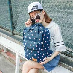 蘭秀 - 印花帆布背包