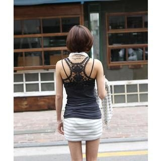 DANI LOVE - Crochet-Back Tank Top