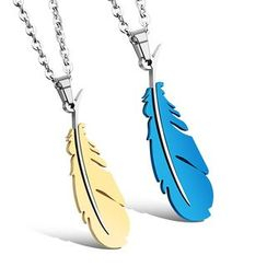 Tenri - Feather Couple Matching Stainless Steel Necklace