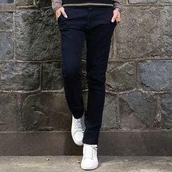WOOG - Fleece-Lined Slim-Fit Pants