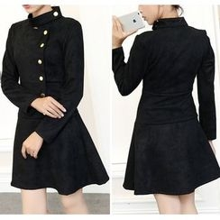 EFO - Long-Sleeve Button-Front Dress