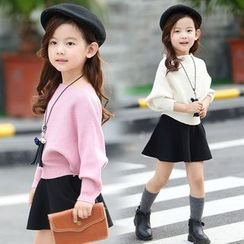Pegasus - Kids Set : Batwing Knit Top + Skirt