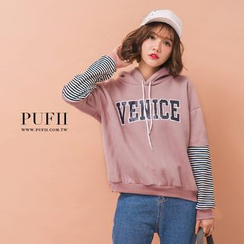 PUFII - Fleece-Lined Hooded Pullover