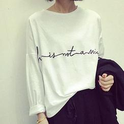 Cloud Nine - 长袖字母T恤