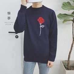 Soulcity - Floral Embroidered Sweater