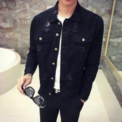 MEING - Distressed Denim Jacket