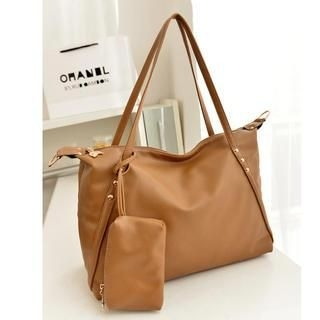 19th Street - Faux-Leather Tote