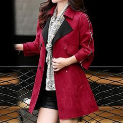 Romantica - Zipped-Sleeve Double-Breasted Coat
