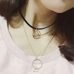Seirios - Geometric Layered Necklace