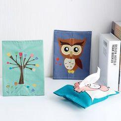 Home Simply - 棉麻印花纸巾套