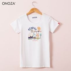Onoza - Short-Sleeve Animal-Print T-Shirt