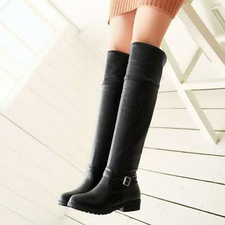 Pangmama - Buckled Over-The-Knee Boots