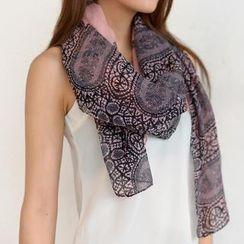 SO Central - 蕾絲印花圍巾