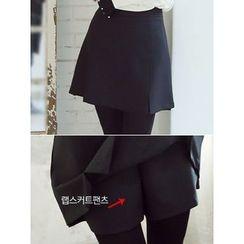 LOLOten - Inset Inner Shorts Mini A-Line Skirt